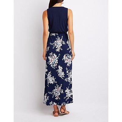 Floral Combo Maxi Dress