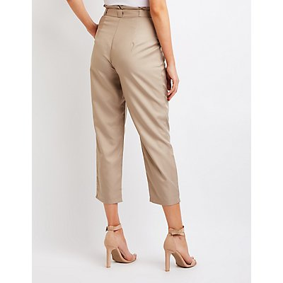 Paperbag Cropped Trousers