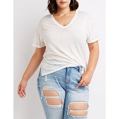Plus Size Washed Out Tee