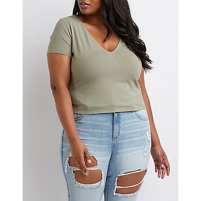 Plus Size Zip Back Top