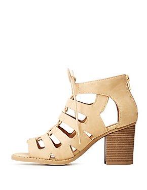 Lace-Up Open Toe Sandals