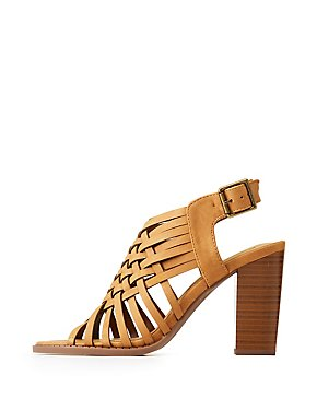 Open Toe Lattice Sandals