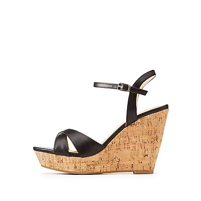 Cork Wedge Sandals