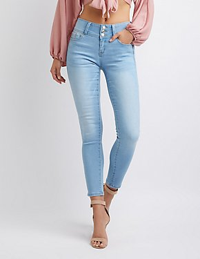 High-Waist Push-Up Jeans