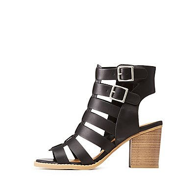 Buckle Caged Sandals