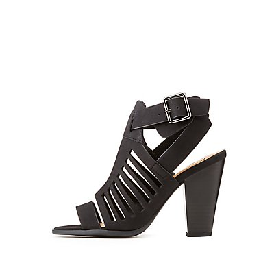 Buckle Cut-Out Sandals
