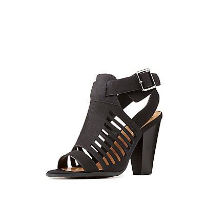 Buckle Cut-Out Sandals