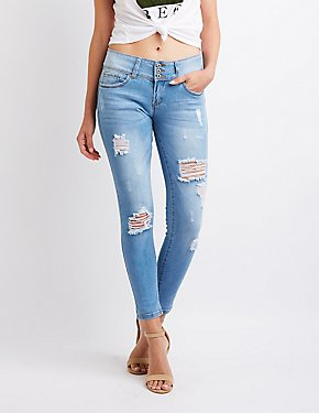 High-Rise Push-Up Jeans