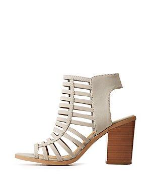 Caged Slingback Sandals