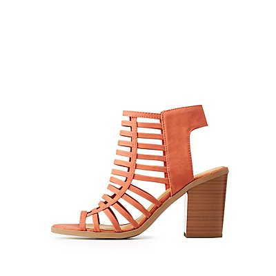 Caged Slingback Sandals