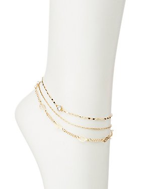 Embellished Layered Anklet