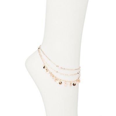 Embellished Layered Anklet