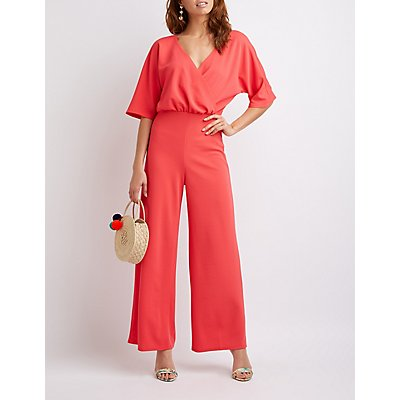 Wide Leg Wrap Jumpsuit