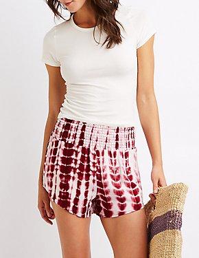 Tie Dye Smocked Shorts