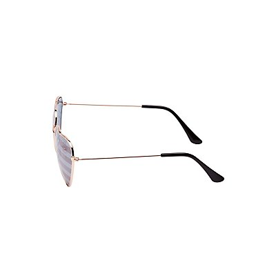 American Flag Heart Shape Sunglasses