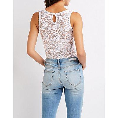 Floral Lace V-Neck Bodysuit