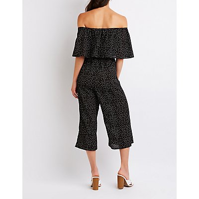 Strapless Polka Dot Jumpsuit