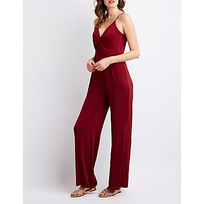 Tie-Back Wide-Leg Jumpsuit