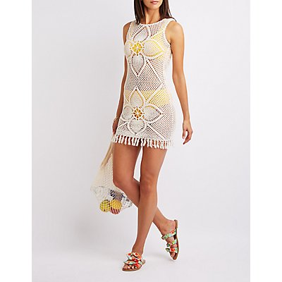 Crochet Fringe Bodycon Dress