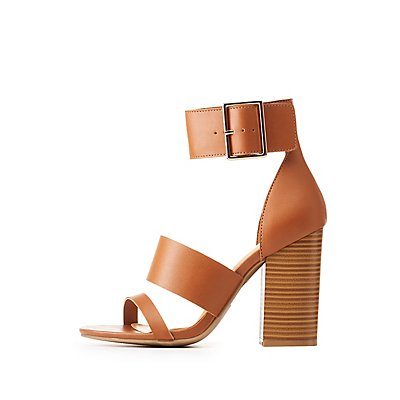 Faux Leather Three-Piece Sandals