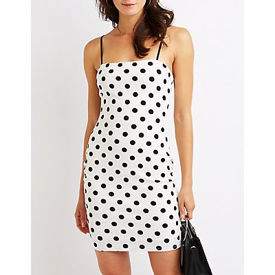 Polka Dot Mini Bodycon Dress