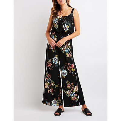 Floral Wide Leg Jumpsuit