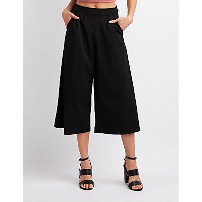 Pleated Culotte Pants