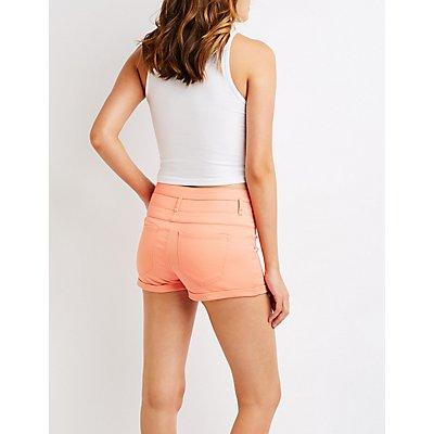 Refuge High Waist Shortie Shorts
