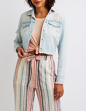 Refuge Cropped Denim Jacket