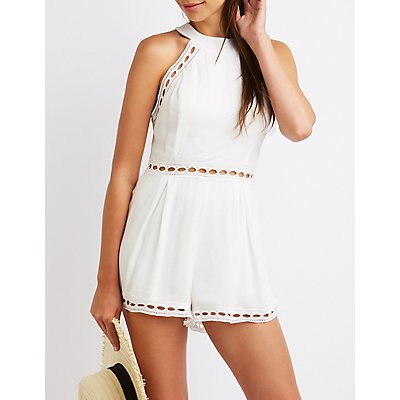 Crochet Mock Neck Romper