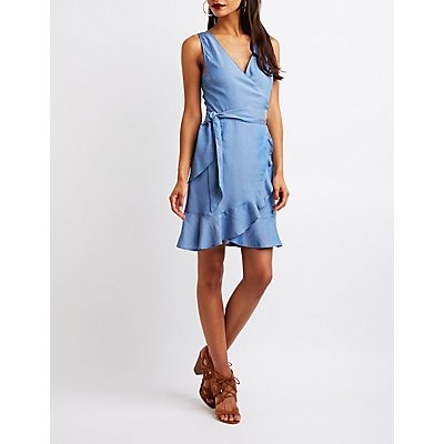 Chambray Wrap Dress