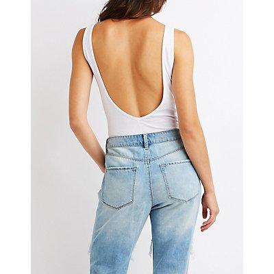 Lemon Print Open Back Bodysuit