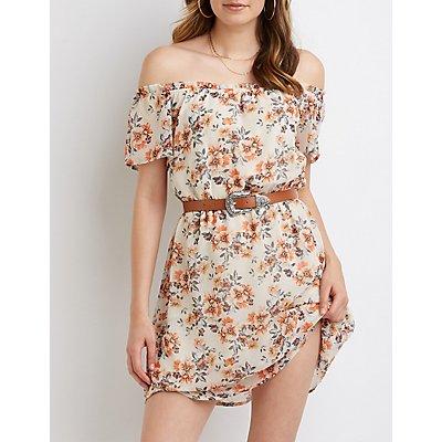 Floral Off The Shoulder Dress