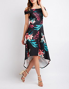 Floral Off The Shoulder Maxi Dress