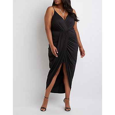Plus Size Wrap Maxi Dress by Charlotte Russe
