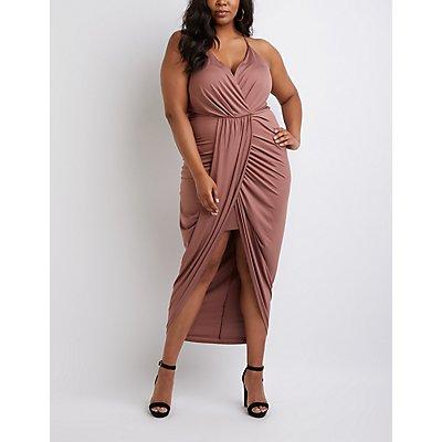 Plus Size Wrap Maxi Dress