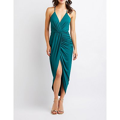 Wrap Maxi Dress by Charlotte Russe