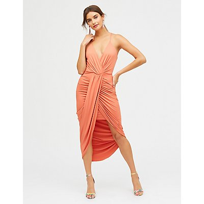 Asymmetrical Wrap Maxi Dress