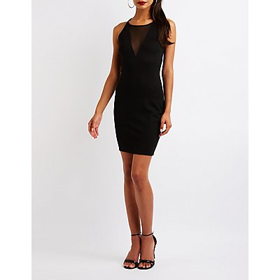 Mesh Inset Bodycon Dress