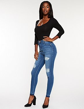 Bright Blush Skinny Jeans - Med blue denim Blend aX6RR6