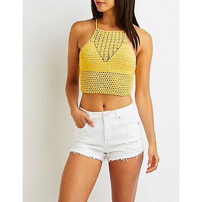 Macrame Halter Crop Top