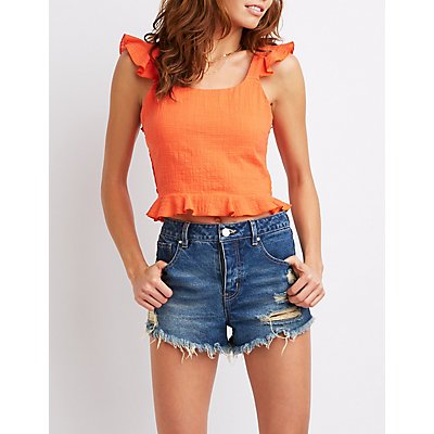 Ruffle Smocked Tank Top
