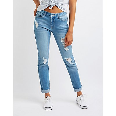 Refuge Distressed Boyfriend Jeans