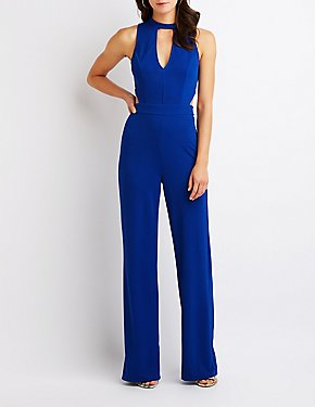 Keyhole Cut Out Jumpsuit