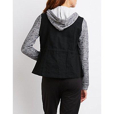 Hooded Combo Anorak Jacket