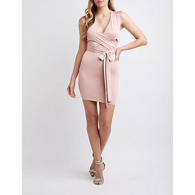 Tie Waist Cut Out Bodycon