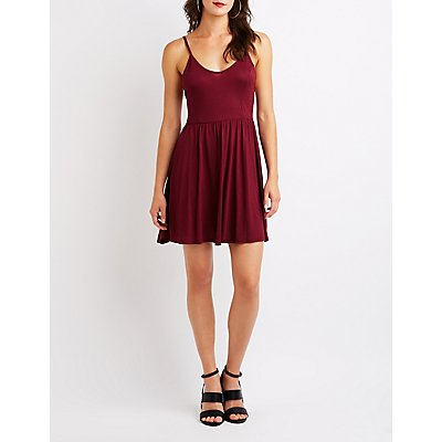Tie Back Skater Dress