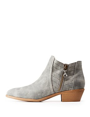 Zip Up Ankle Booties