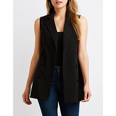 Double Breasted Longline Vest