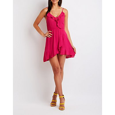 Ruffle Wrap Sun Dress